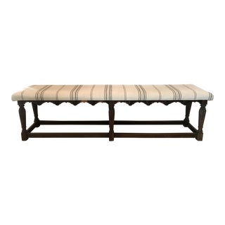 Antique Upholstered Elizabethan Bench
