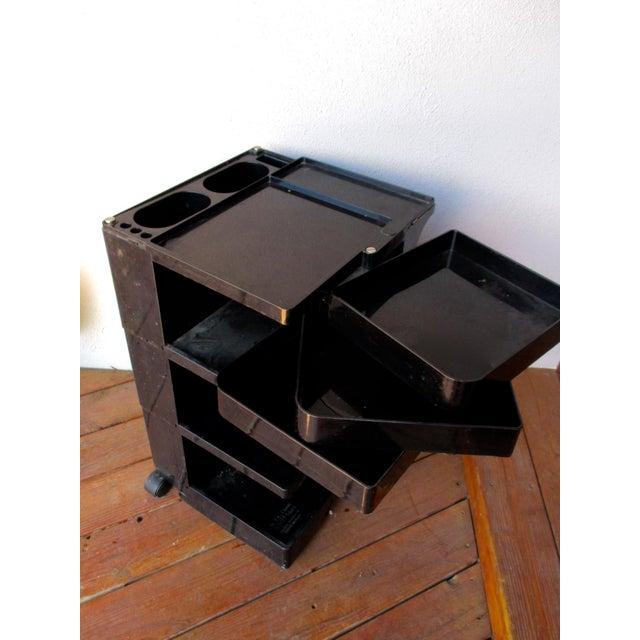 Taboret Mid-Century Modern Black Cart - Image 4 of 10