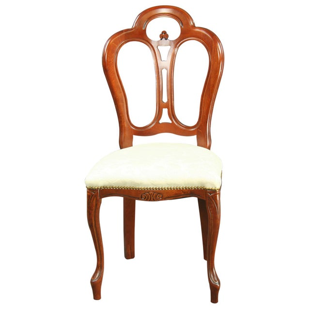 Large, New Italian Mahogany Rococo Dining Chair - Image 2 of 8