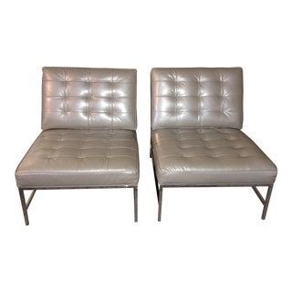 "Mitchell Gold + Bob Williams ""Major"" Barcelona Style Chairs- A Pair"