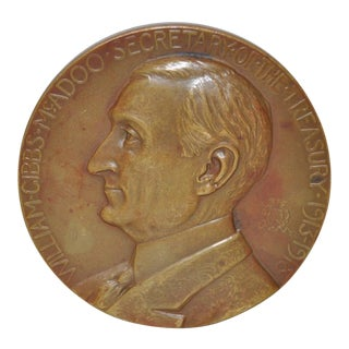 Secretary of Treasury William Gibbs McAdoo Bronze Medallion c.1919