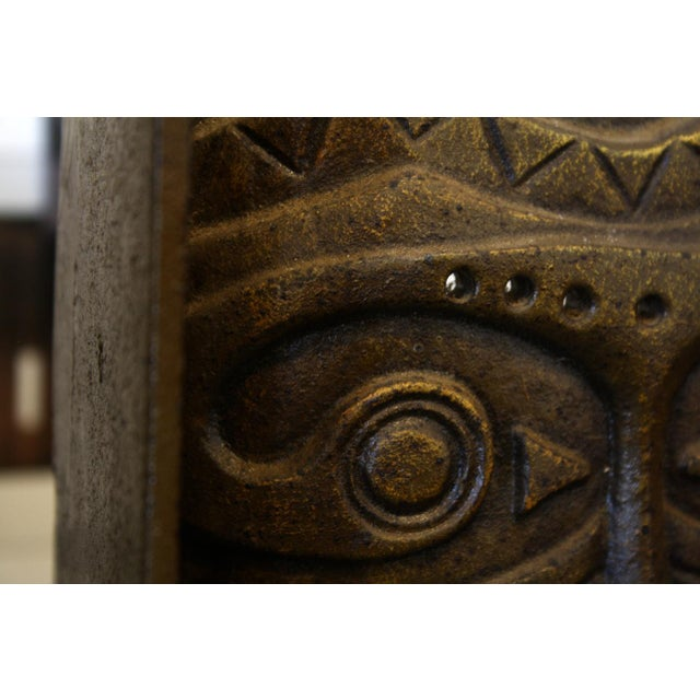 Cast Bronze Tiki Mask Bookends - Image 3 of 4