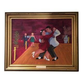 "Modern Contemporary Edward Romano Painting ""El Tango Del Deseo"""