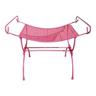 Vintage Pink Vanity Stool