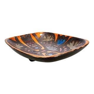 Rogier Vandewegh for Perignem Art Pottery Footed Platter