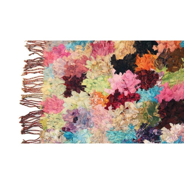"Vintage Boucherouite Moroccan Carpet - 8'10"" X 5'4"" - Image 2 of 3"
