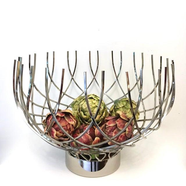 Large Modern Silver Bowl - Image 5 of 5