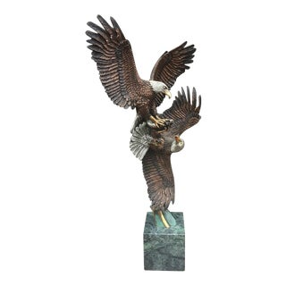 Food Fight - Eagle Sculpture by Kitty Cantrell