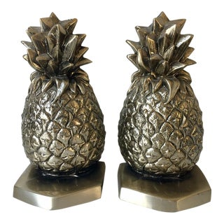 Palm Beach Regency Pineapple Bookends - a Pair