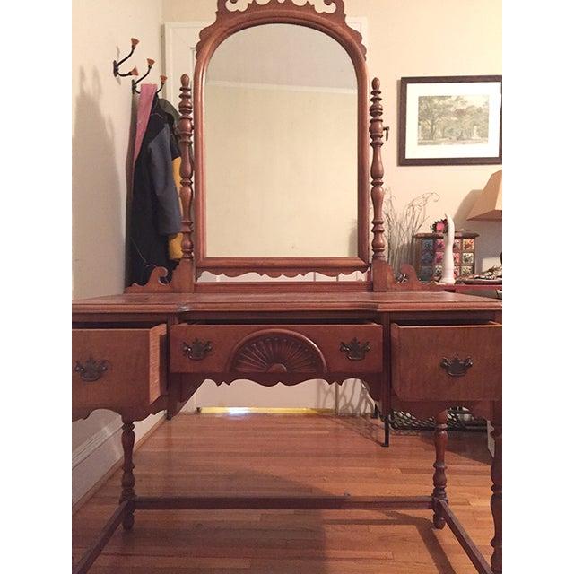 Antique Federal Maple Mirrored Vanity Chairish