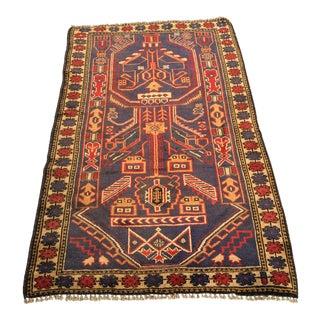 "Vintage Persian Baluchi Rug - 2'10""x4'9"""