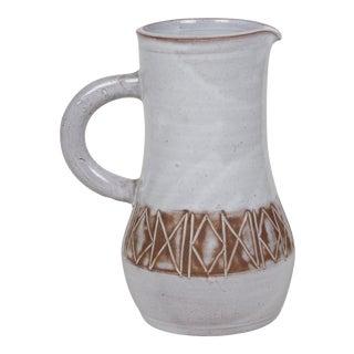 Glazed Ceramic Pitcher by Les Argonautes