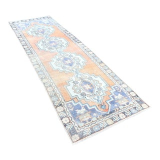 Antique Muted Handwoven Oushak Runner -2′11″ × 9′11″