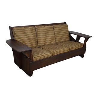 Old Hickory Antique Rustic Paddle Arm Sofa