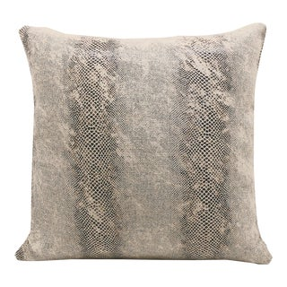 """Piper Collection Faux Snakeskin """"Cindy"""" Pillow"""