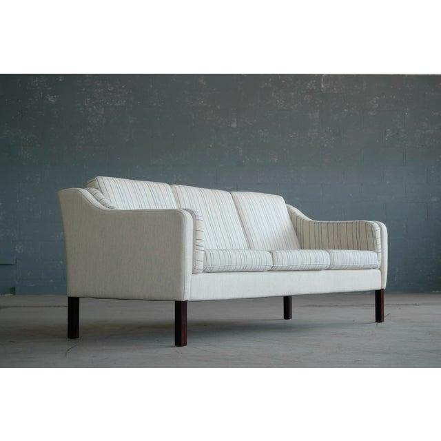Børge Mogensen Style Three-Seat Sofa Model 2423 by Mogens Hansen - Image 3 of 9
