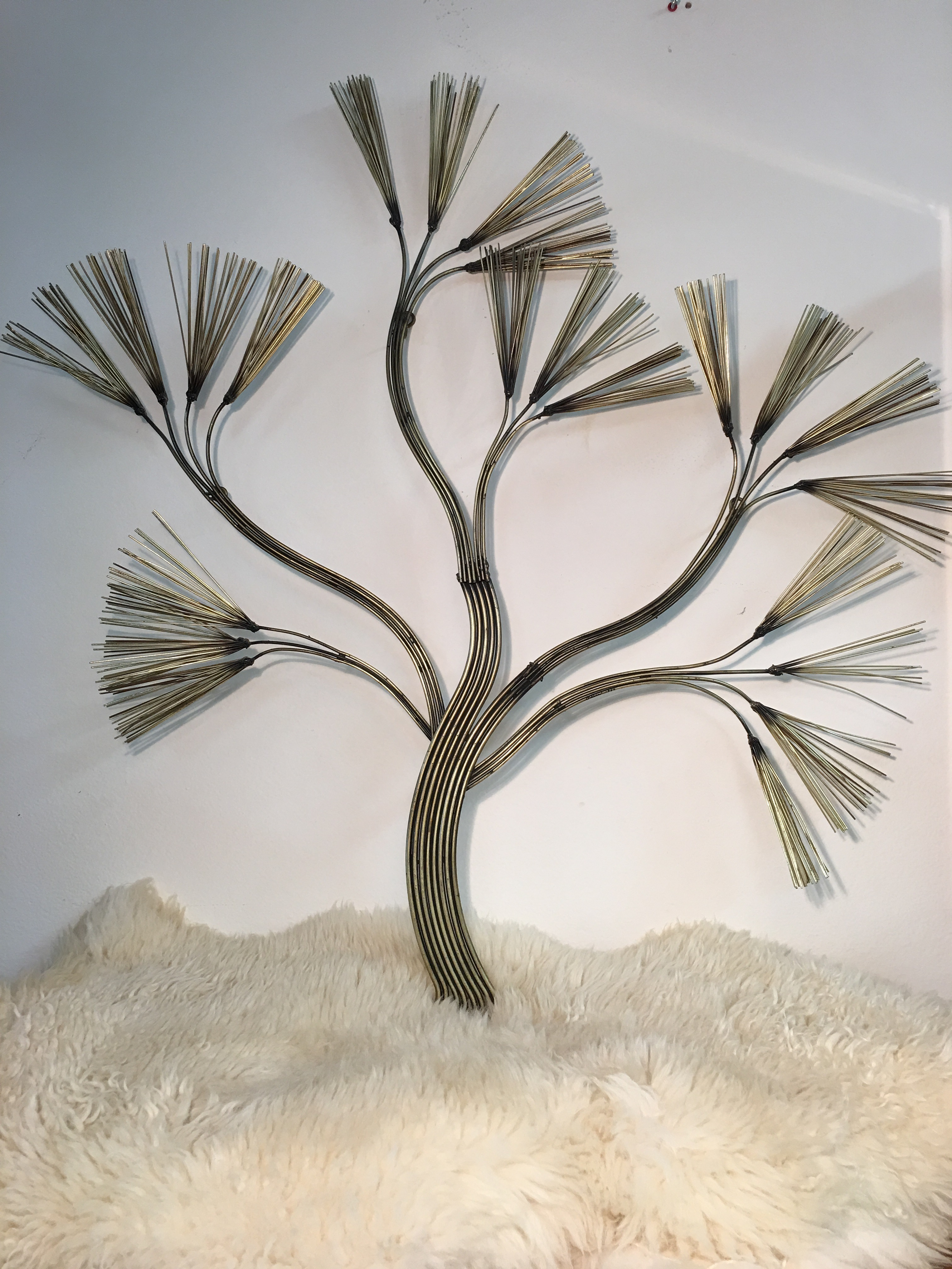 tree branch metal wall sculpture by curtis jere chairish