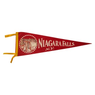 Niagara Falls New York Vintage Felt Flag