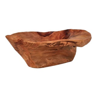 Organically Shaped Wooden Bowl, Signed 'CC 72', USA