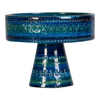 Bitossi Rimini Blue Pedestal Bowl, Italy c.1965