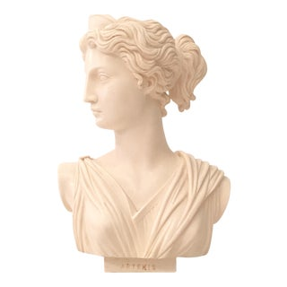 Mid-Century Bisque Female Sculpture Bust