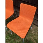 Image of Orange Wicker & Metal Dining Chairs - Set of 8