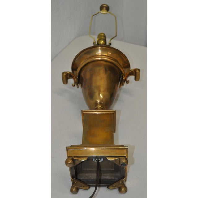 Image of Brass Urn on Plinth Table Lamp