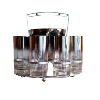 Mid-Century Highball and Ice Bucket Set