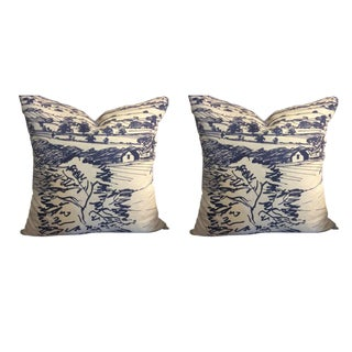 Sanderson Pillows in Sussex - a Pair