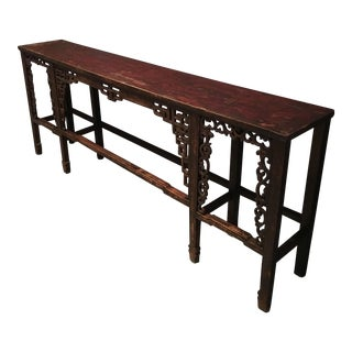 Asian Carved Wood Console