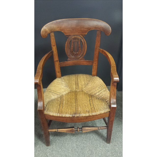 Antique French Lyre Back Armchairs - A Pair - Image 6 of 11