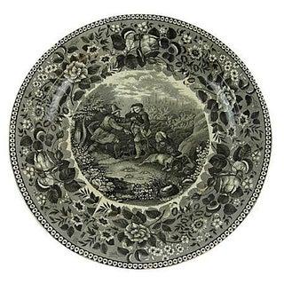 19th Century Large German Transferware Plate