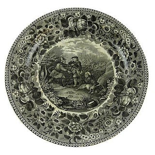 19th Century Large German Transferware Plate
