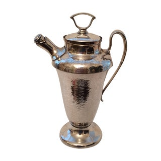 Silver Plate Cocktail Shaker with Cork Lid