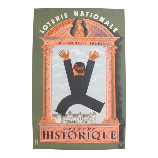 1939 French Loterie National Poster, Tranche Historique - Image 1 of 4