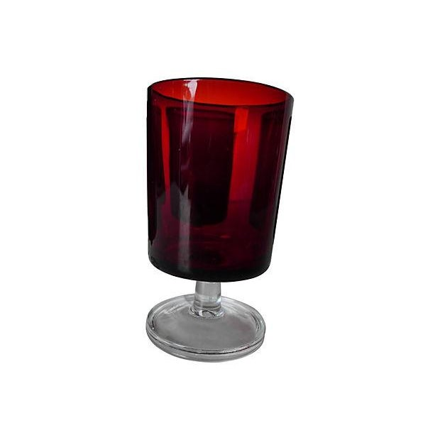 1960's Cranberry Glass Cordial Glasses - Set of 5 - Image 3 of 5