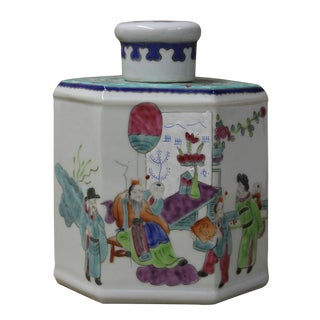 Chinese Family Harmony Porcelain Tea Jar