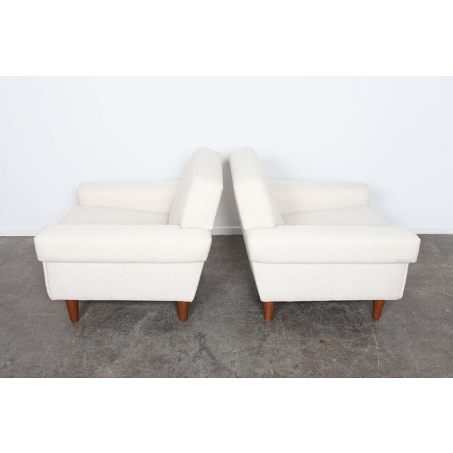 Pair of newly upholstered Swedish midcentury lounge chairs by Ire Mobel - Image 4 of 6