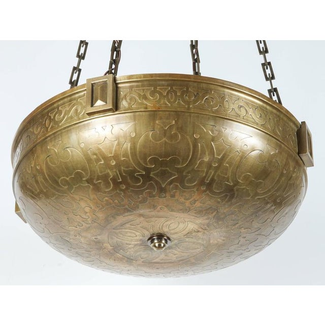 Moorish Style Acid Etched Bowl Fixture - Image 5 of 6