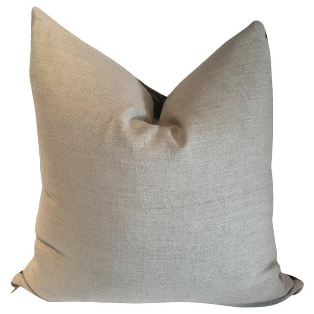 Vintage Batik Grey Pillow - Image 3 of 3