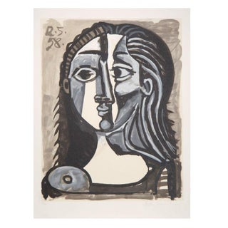 Pablo Picasso - Tete De Femme Lithograph