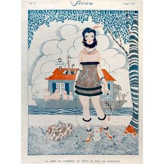 """1920 Stan Offel Le Sourire """"Noah's Ark"""" Print"""