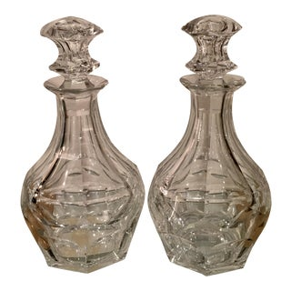 Antique Baccarat Cut Crystal Decanters - A Pair