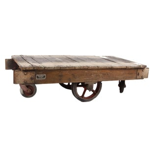 Vintage American Industrial Factory Cart