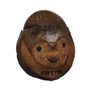 Carved Coconut Face