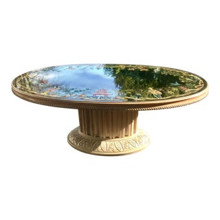 French Hollywood Regency Jansen Style Verre Eglomise Coffee Table