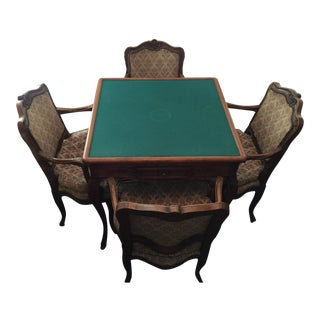 French Oak Game Table