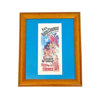 Framed 'Cheret Jouets' French Poster