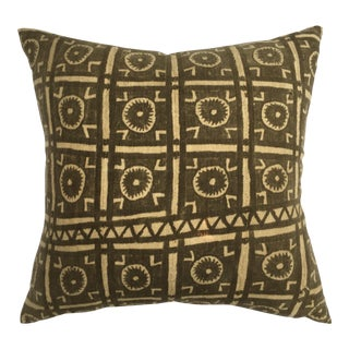 African Mali Mud Cloth Pillow
