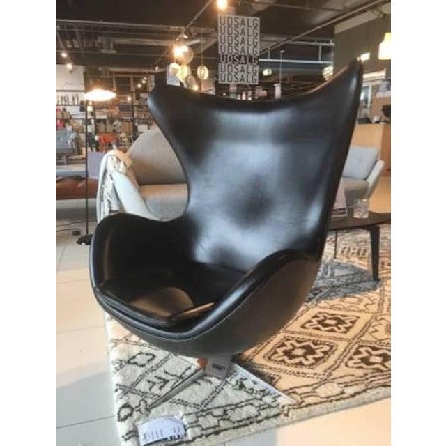 Arne Jacobson for Fritz Hansen Egg Easy Chair & Footstool - Image 5 of 9